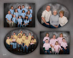 montage of family